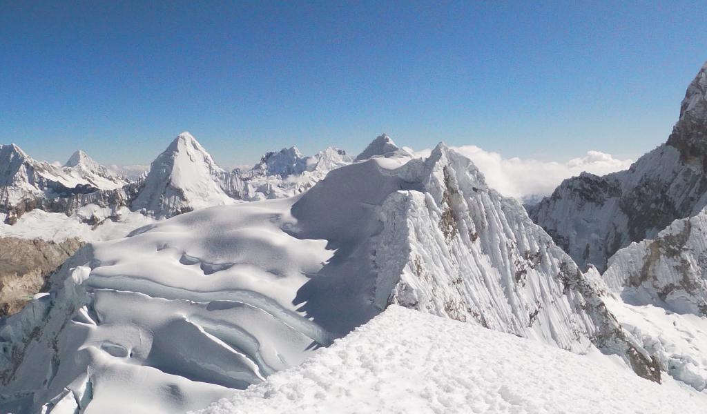 Montañas de la Cordillera Blanca