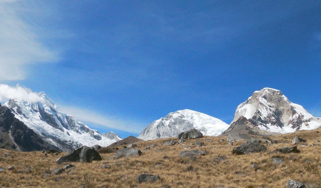 Vista del Nevado Huascarán sur y Norte