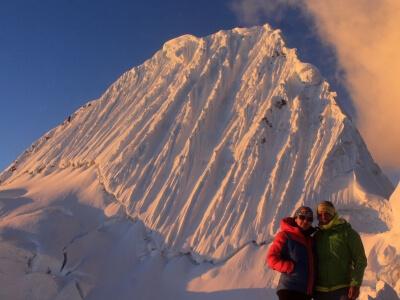 Campo alto del nevado alpamayo