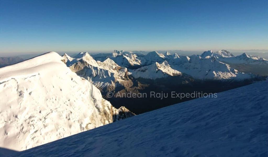 La Cordillera Blanca, desde la cumbre del Huascarán
