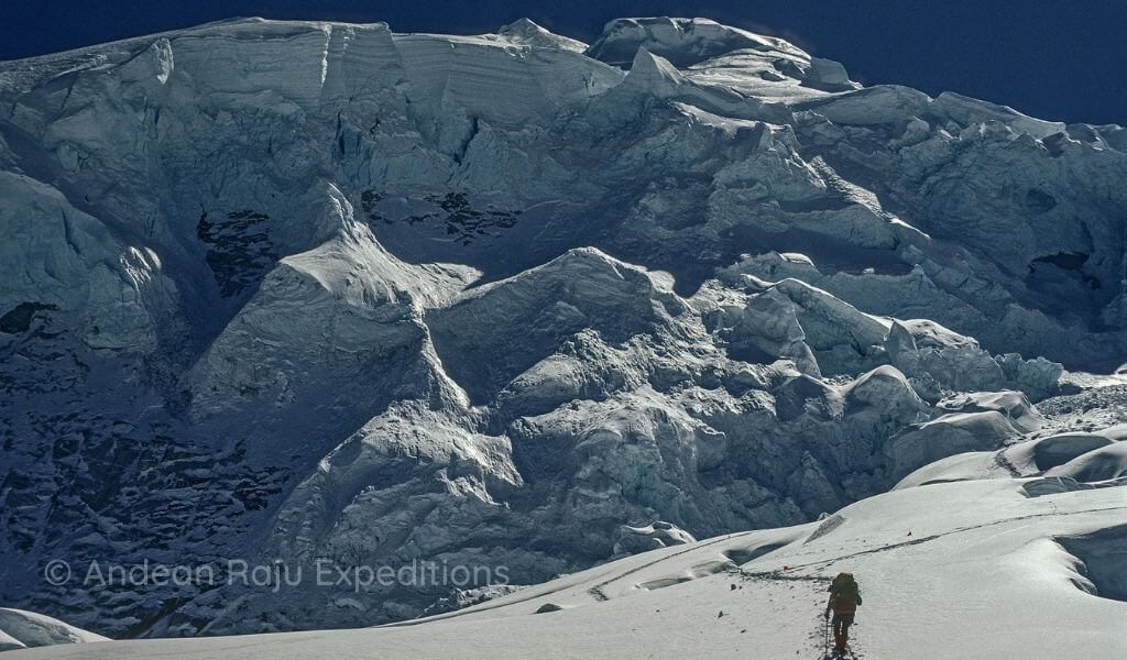 Ascendiendo al Campo II del Huascarán